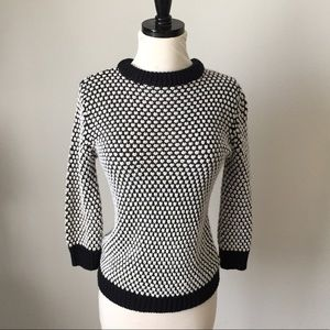 Zara Black and White Sweater M